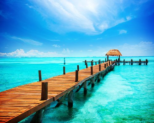 Cancun Mexico Pier