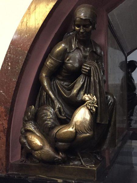 Bronze Statues in the Underground