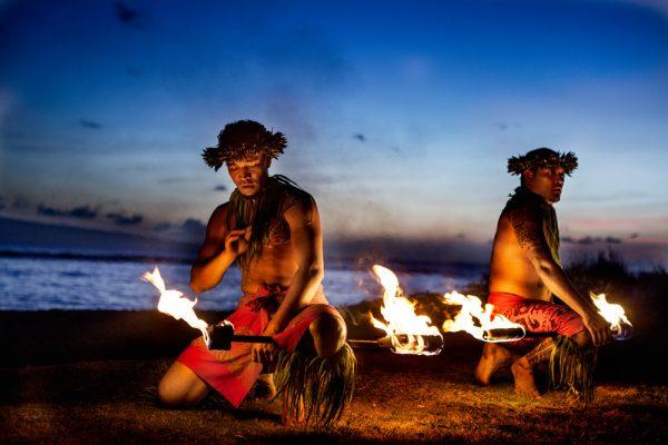 Maui, Hawaii: Luau fire dance